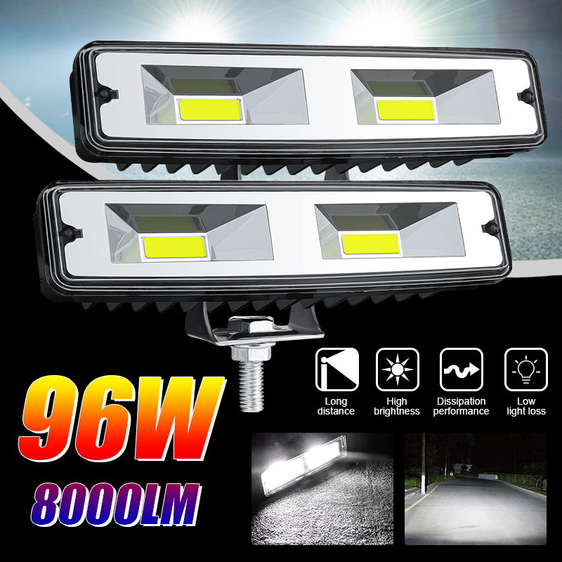 Led Work Lights for Tractors Flood Spot Combo 12v 24v 6 Inch 48W COB Led Bar Truck Offroad Barra ATV SUV 4×4 Headlight Motorbike
