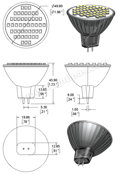 MR16-x48SMD Diagram